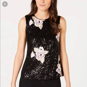 NWT NANETTE LEPORE SEQUINED TANK TOP